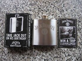 Brand New limited edition Jack Daniels Engraved Stainless Steel 3oz Gift Hip Flask