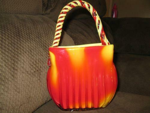Glass Purse Vase Ebay
