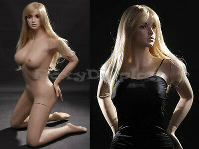 Sexy Big Bust Female Fiberglass Mannequin Dress Form Display Mz-vis2