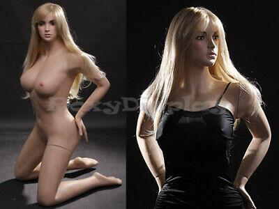Sexy Big Bust Female Fiberglass Mannequin Dress Form Display Mz-vis2