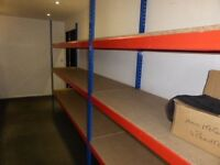 JOB LOT 20 bays Rapid 1 industrial longspan shelving 2.1m high ( pallet racking , storage )