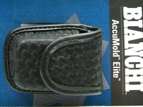 Bianchi 22115 Black 7915 Basketweave Accumold Elite Pager & Glove Holder