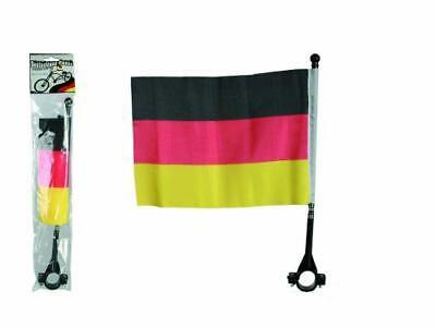 Deutschland Fahrrad Flagge für den Lenker EM Fahrrad Fahne am Stab klein 22x16cm Kleine Fahnen