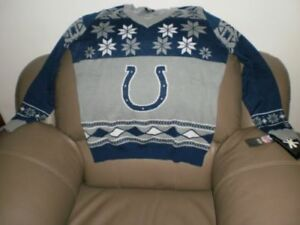 Indianapolis Colts ugly Christmas sweater mens XXL V neck