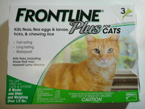 Frontline Plus Flea and Tick Control Treatment for Cats & Kittens 3 Doses Supply