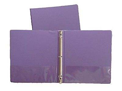 Grape Vinyl Standard 3-ring Binders 1-inch For 8.5 X 11 Sheets 4 Pack