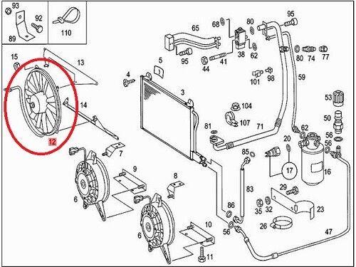 Sprinter A/C Condenser Cooling Fan for Mercedes 190E 260E
