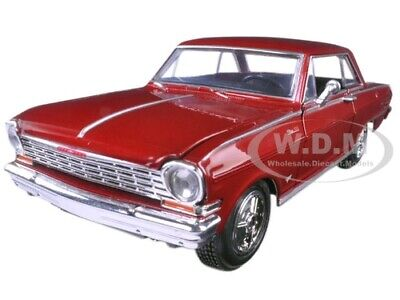 1964 CHEVROLET NOVA SS BURGUNDY 1/25 DIECAST MODEL CAR BY NEW RAY 71823 -