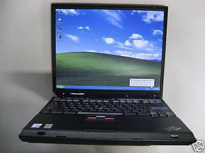 IBM Thinkpad T30 Pentium M 2.0ghz 80gb 1gb DVDCDRW XPPro SP3 n Ofc 07 WiFi #368