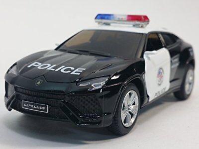 New 5  Kinsmart Diecast Lamborghini Urus Police Suv Diecast Model Toy Cop 1 38