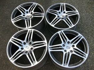 """WOW - Set of Genuine OEM Porsche 19"""" Forged Turbo rims new cond"""