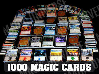 1000 Magic the Gathering Cards Lot With 100 Lands! MTG! Includes Foils & Rares!