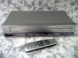 Quality DVD VCR Combo Player with Remote and AV Cable