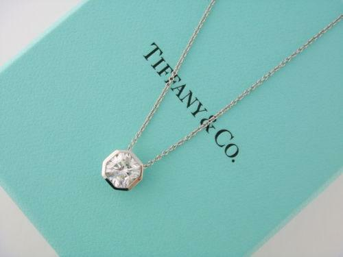 Tiffany diamond solitaire pendant ebay aloadofball Images