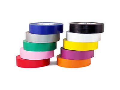 Electrical Tape 7mil 3/4 inch x 66 ft. ( 1 Roll, 10 Roll, 100 Roll Packs)
