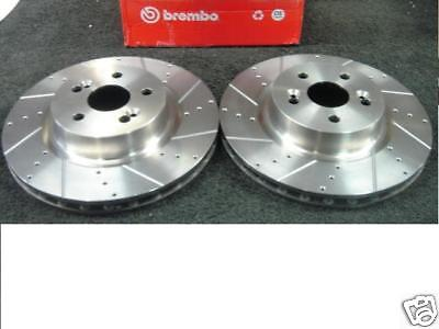 RENAULT CLIO 2.0 197 RS SPORT FRONT BRAKE DISC BREMBO CROSS DRILLED GROOVED