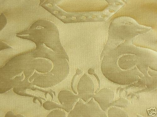 SCALAMANDRE 100%SILK LOVE BIRD SUN YELLOW GOLD 10YD MSRP 484/YSpecial order only