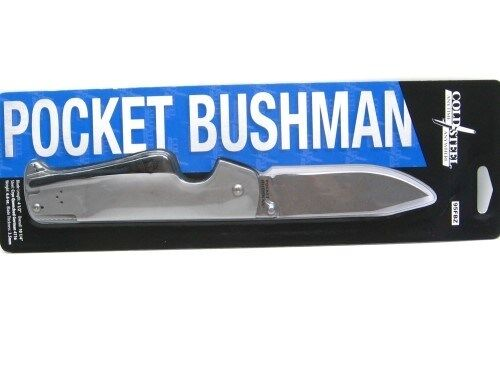 Knife - COLD STEEL Stainless Steel BUSHMAN Straight Folding Pocket Knife New! 95FBZ
