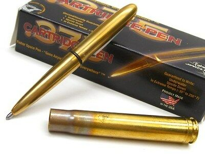 FISHER SPACE PEN Antique Gold Finish .375 BULLET PEN Medium Point Black Ink! 375