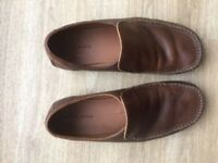 Mens Brown Leather Shoe Size 8