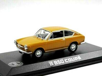 car 1/43 NOREV 740070 SEAT 850 COUPÉ 1966 YELLOW-OCHRE BOX