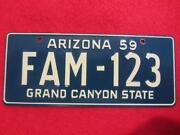 Vintage Arizona License Plate