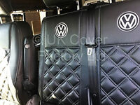 VW TRANSPORTER T5 VAN SEAT COVERS WITH VW LOGO ON SEAT EMBRODIERED