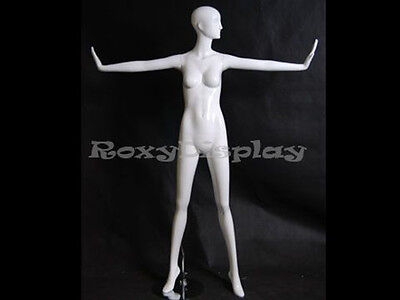 Female Fiberglass Glossy White Mannequin Eye Catching Abstract Style Md-xd12w