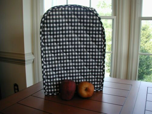Black Gingham Appliance Cover fits Kitchen Mixers Etc, quilted fabric Last Ones