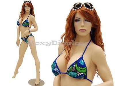 Sexy Big Bust Female Fiberglass Mannequin Dress Form Display Md-ack3x
