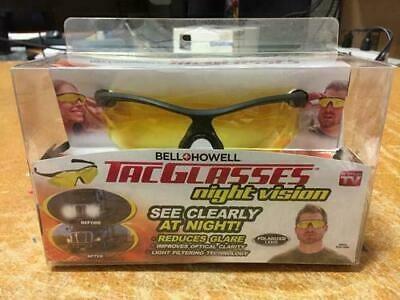 Bell + Howell TAC GLASSES Night Vision Military Style Polarized Lens (Visions Glasses)