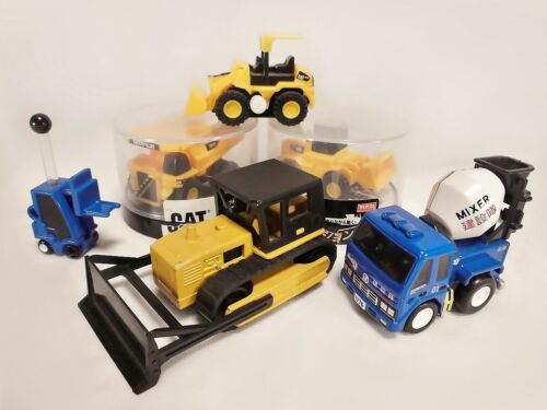 Lot of 6 Construction Vehicles Forklift Bulldozer Dump Truck Mixer Car Takara
