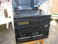 Hi Fi tape and record player with speaker