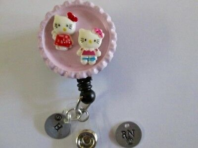 Id Badge Retract Reel Magnet Or Cliphello Kittyengravemedicalerrnnurse