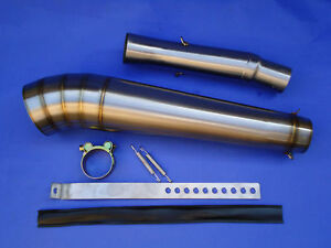 NEW Yamaha R6 Yzf 2003 - 2005 GP Extreme Exhaust End Can & Link Pipe / Race