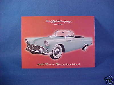 1955 Ford THUNDERBIRD postcard 55 T-Bird (Ford-issued)
