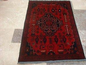 Exclusive Afghan Khal Muhamadi Fine Rectangle Area Rug Hand Knotted Wool Carpet (4.11 x 3.4)'
