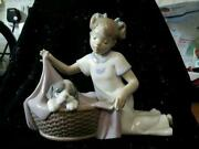 Lladro Nao Girl with Dog