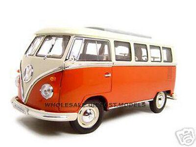1963 VW VOLKSWAGEN MICROBUS T1 BUS RED 1/18 DIECAST MODEL
