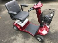 Red Kymco Super 4 Mobility Scooter Breaks Into Parts For Car Boot & Travel