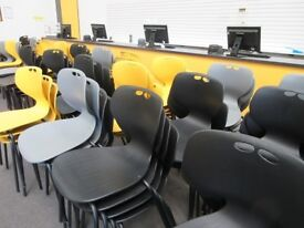 Used Plastic Chairs - Yellow, Grey or Black - Only £15 Each