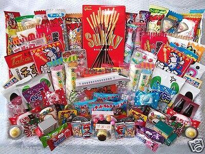 Japanese Dagashi Set japan popular snack candy okashi sweets lots 100pcs