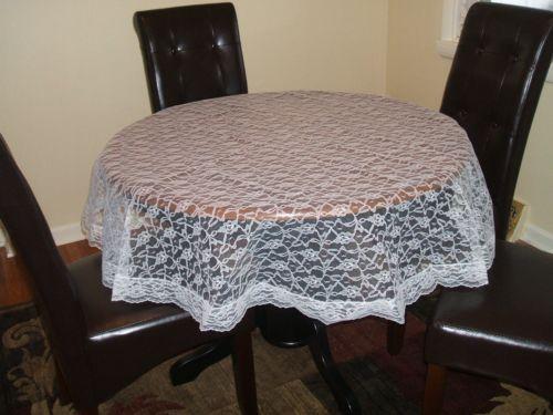 60 round lace tablecloth ebay. Black Bedroom Furniture Sets. Home Design Ideas