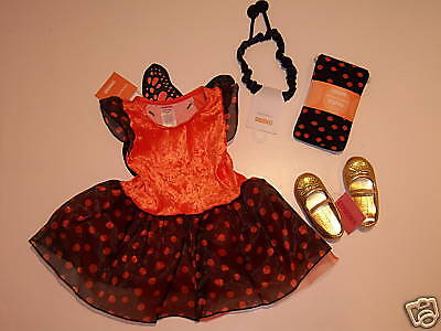 NWT Gymboree 6-12 Months Monarch Butterfly Costume Tights Antenna & Gold Shoes](Monarch Butterfly Shoes)