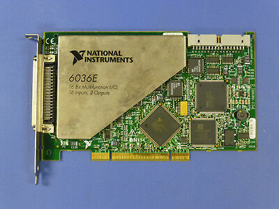 National Instruments Pci-6036e Ni Daq Card 16 Bit Analog Input Multifunction