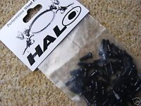 New bag of 50 black HALO Alloy Spoke Nipples, Mountain Road Bike, Cycle Wheel