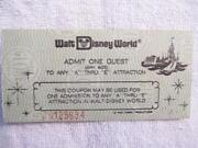 Vintage Walt Disney World Tickets