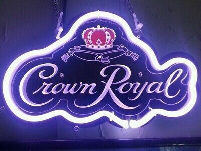"New Crown Royal 3D Carved Neon Light Sign 14"" Beer Cave Gift"