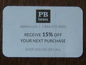 POTTERY BARN TEEN PROMOTION CODE