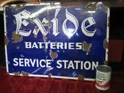 Exide Battery Sign
